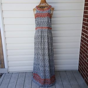 THML Anthropologie Black White Maxi Dress Sz M
